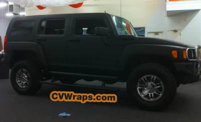 Matte Black Wrap for Hummer
