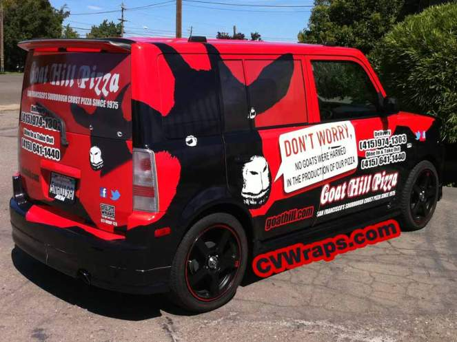SUV Wrap for Goathill Pizza
