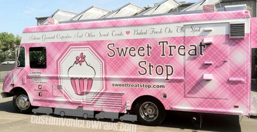 Sweet Treat Stop - Food Truck Wrap