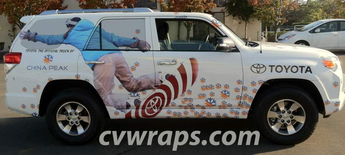 China Peak SUV Wrap
