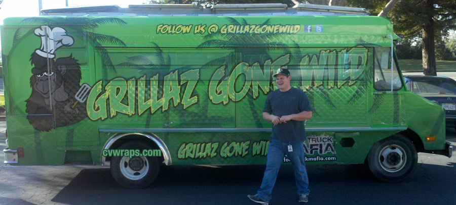 Grillaz Gone Wild Food Truck Wrap