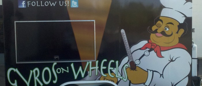 Gyros On Wheels Food Trailer Wrap