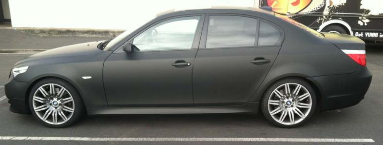 Matte Black Vinyl Wrap For Bmw Custom Vehicle Wraps
