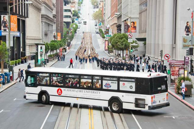 Bus Wrap for San Francisco's Academy of Art