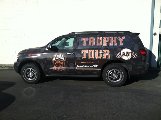 SF Giants Trophy Tour SUV