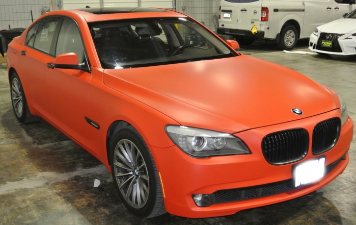 Orange BMW Diagonal Right