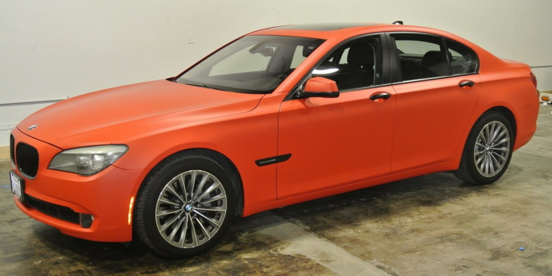 Orange BMW Profile Left 3