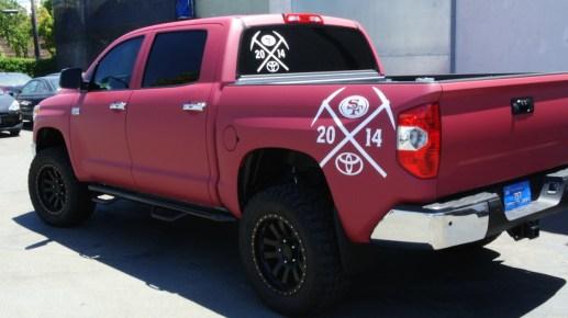 49ers Truck Wrap Left Diag