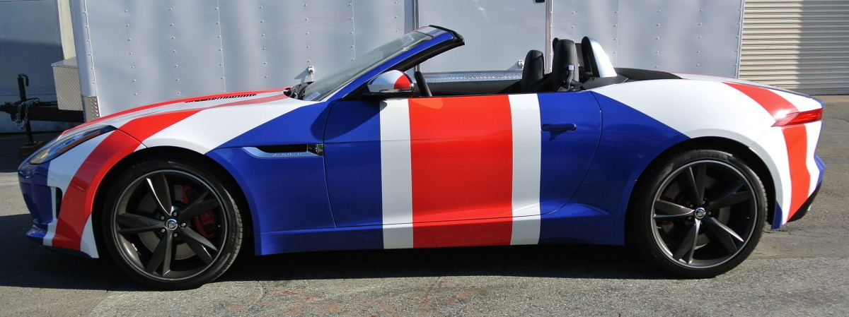 british motor car wrap side left