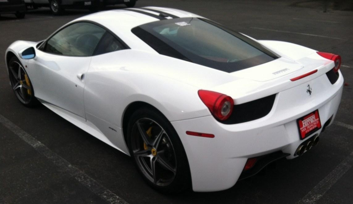 Ferrari White Wrap Diag Side