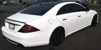 Mercedes White Wrap Diag Back
