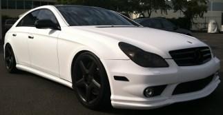 Mercedes White Wrap Front Diag