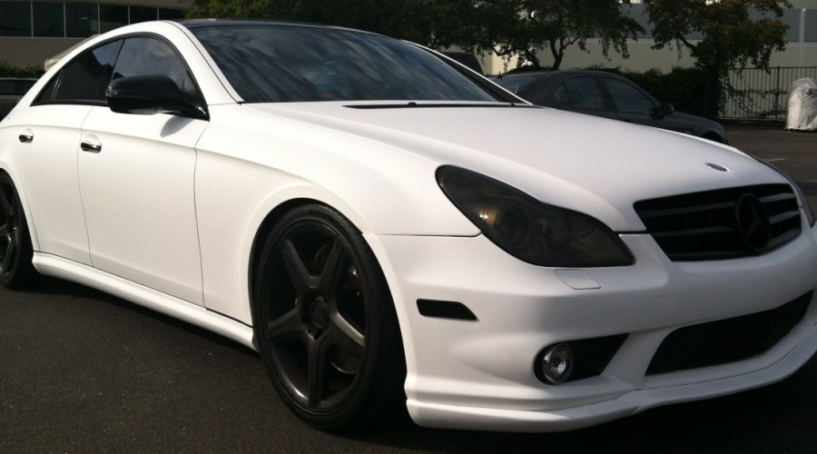 Color Change Mercedes: Black to Matte White