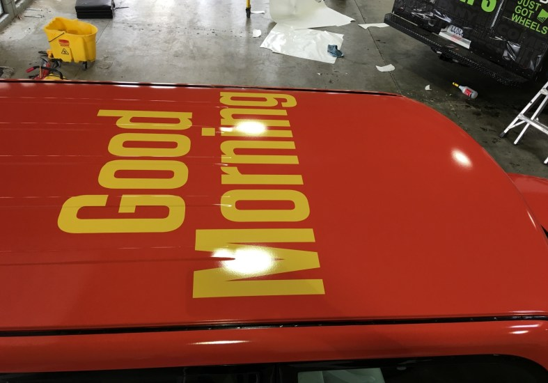 mcdonalds cube car wrap topview