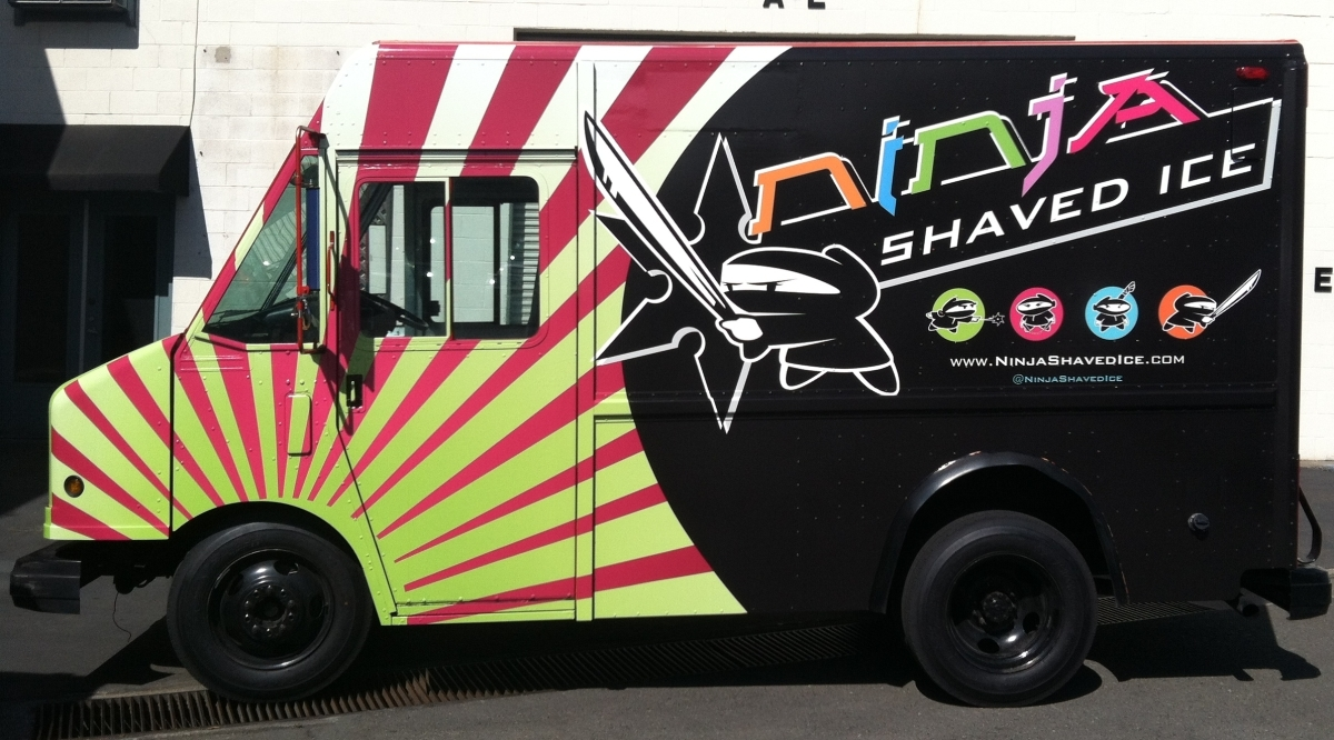 ninja shaved food truck left