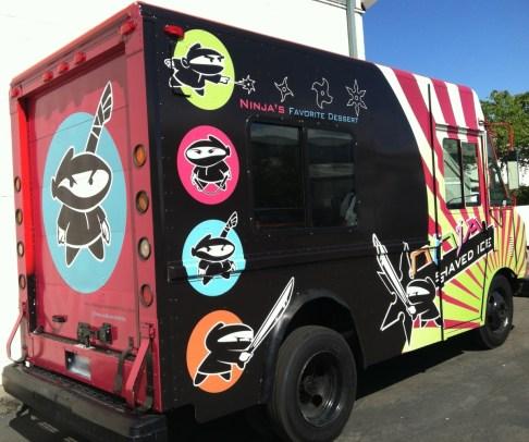 ninja shaved food truck rear