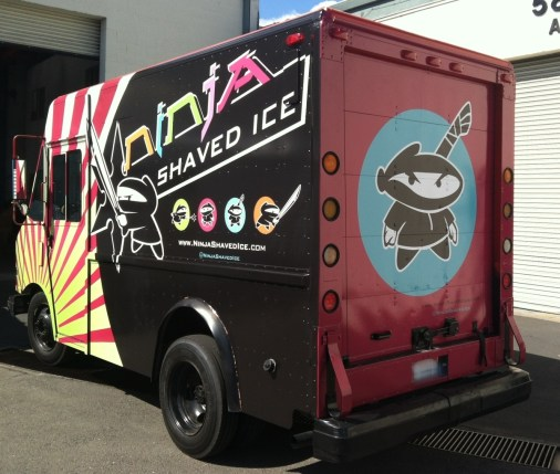 ninja shaved food truck rear2