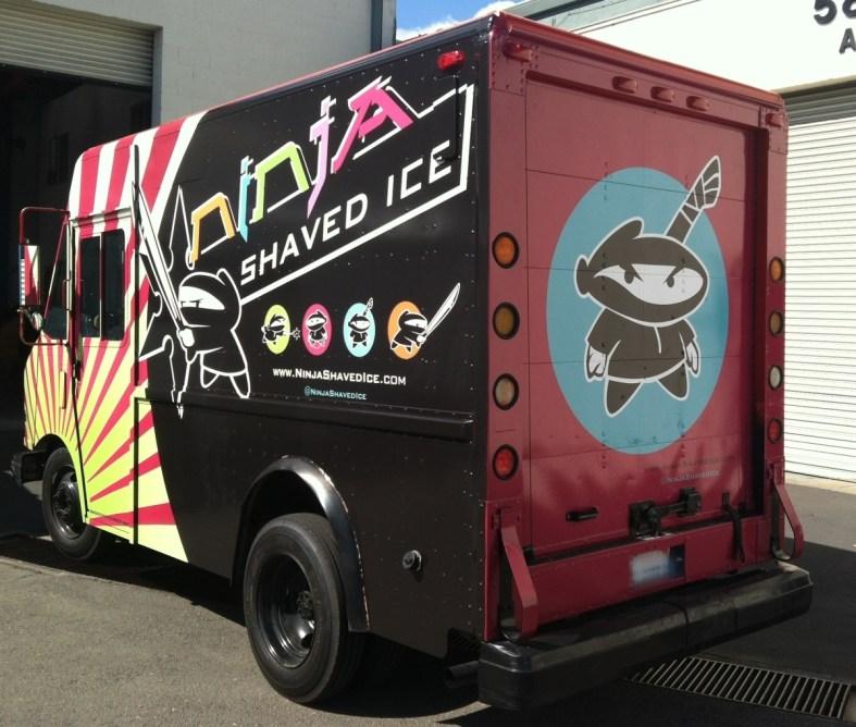 ninja shaved food truck rear2