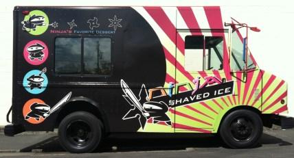 ninja shaved food truck right