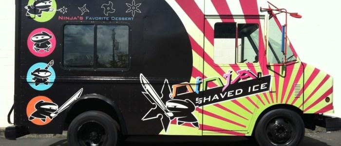 Ninja Shaved Ice Food Truck Wrap