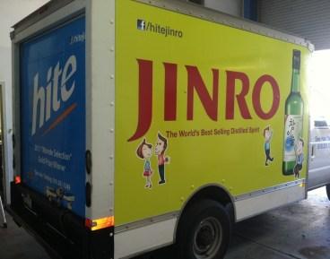 Jinro Hite Box Truck Wrap