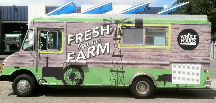 Whole Foods Food Truck Wrap Side