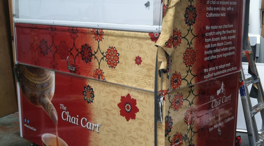 Food Cart Wrap for The Chai Cart