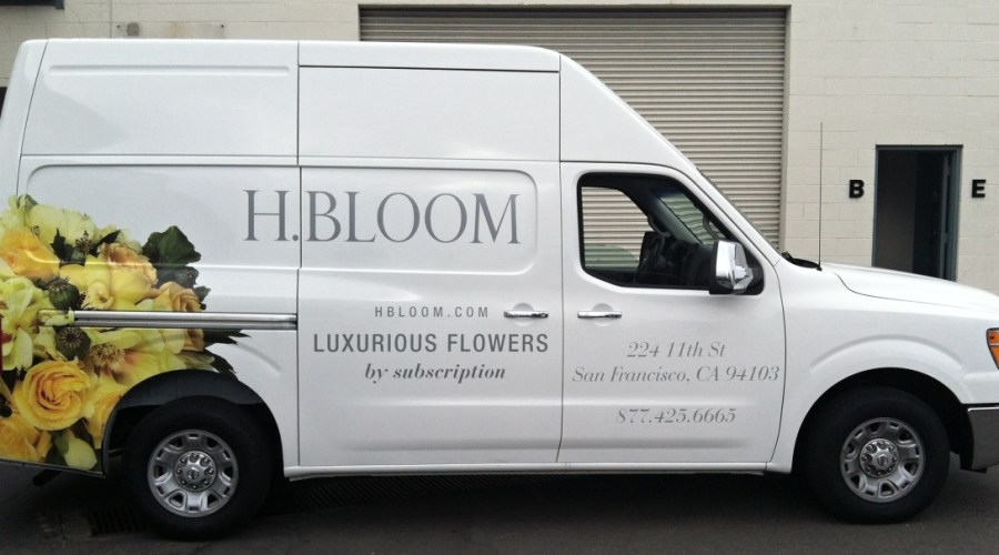 Delivery Van Wrap for H.BLOOM SF