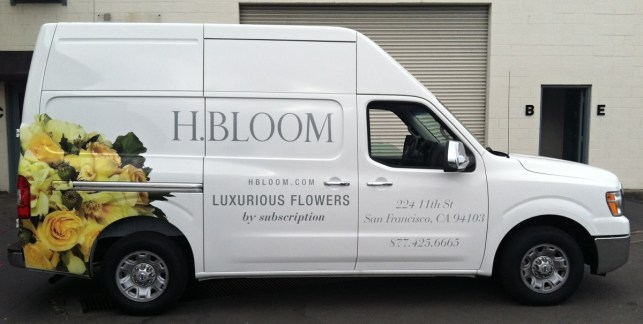 hbloom delivery van wrap right