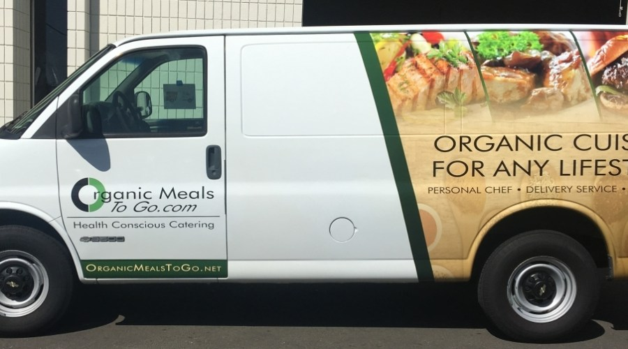 Food Delivery Truck Wrap for Organic Meals To Go