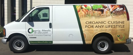 organic delivery truck wrap