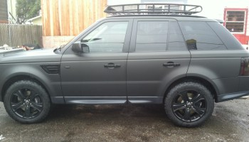 Matte Black Smart Car Wrap Custom Vehicle Wraps