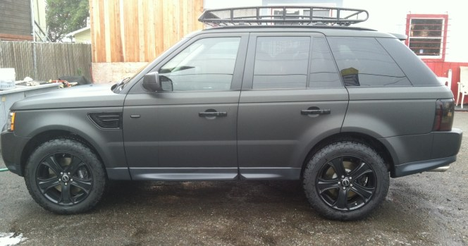 range rover matte wrap side