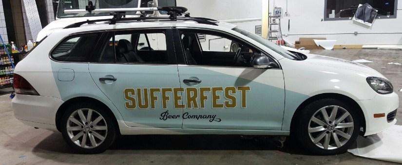 sufferfest beer car wrap right