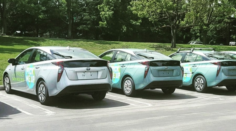 Car Wrap for Earth Week Toyota Prius Fleet