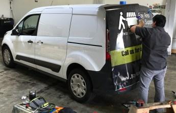 van vehicle graphic application