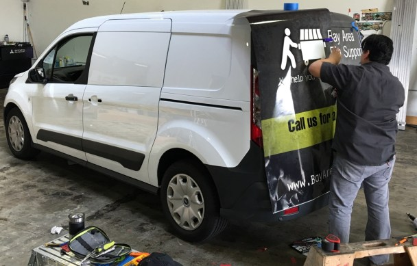 van vehicle graphic application