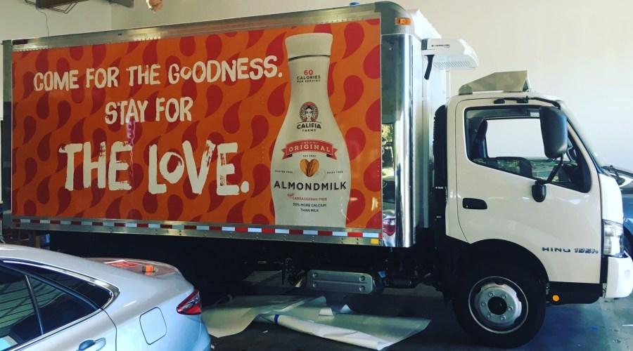 Box Truck Wrap for Califia Almond Milk