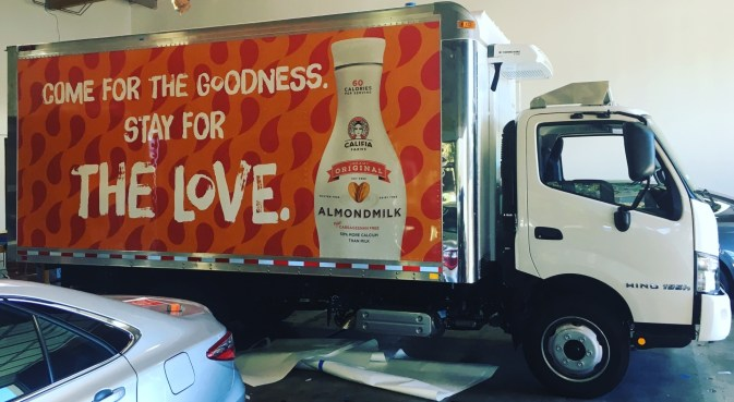 almond milk box truck wrap right