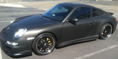 porsche matte black car wrap-03