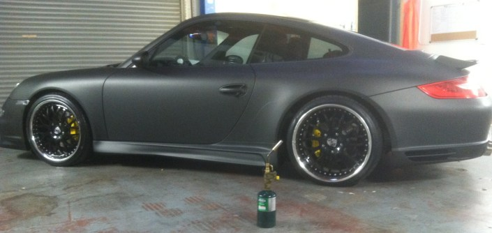 porsche matte black car wrap-04
