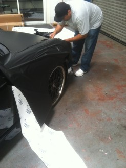 porsche matte black car wrapping-02