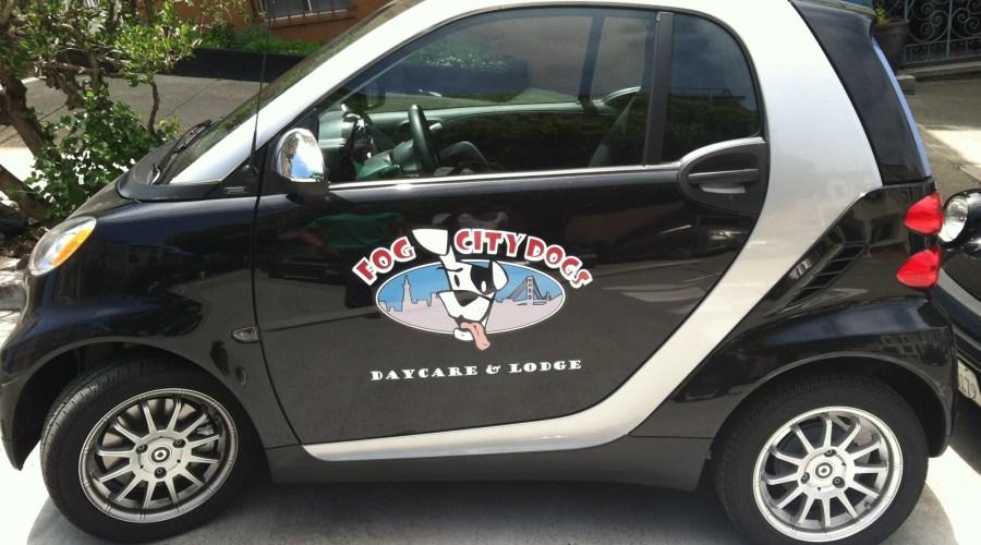 Fog City Grooming Smart Car Wraps