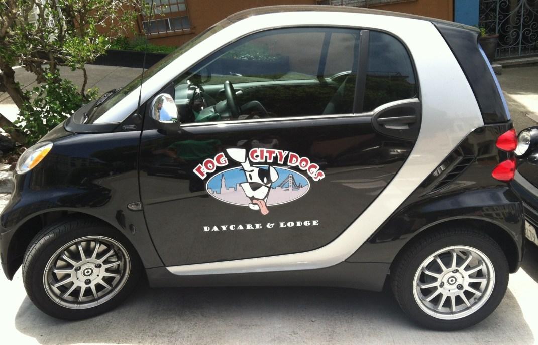 Fog City Grooming Smart Car Wraps Custom Vehicle Wraps