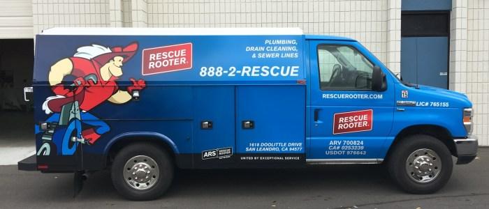 Rescue Rooter Van Wrap