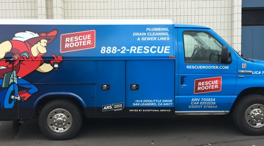 Rescue Rooter Van Wrap