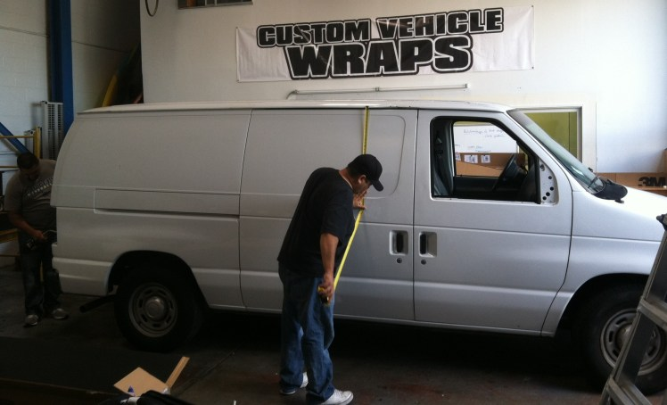 White Van Wrapping Measurements