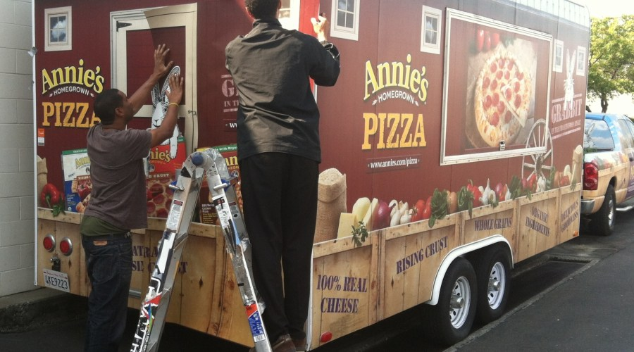 Annie's Homegrown Pizza Trailer Wrap