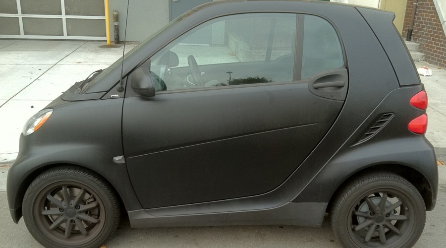 Matte Black Smart-Car Wrap