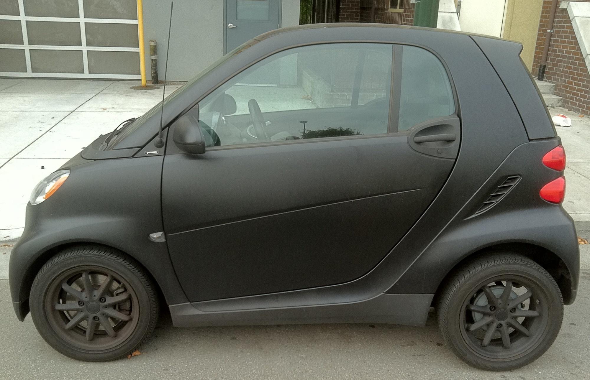 Matte Black Smart Car Wrap 01 Custom Vehicle Wraps